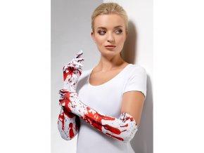 Dlouhé rukavice bílé od krve
