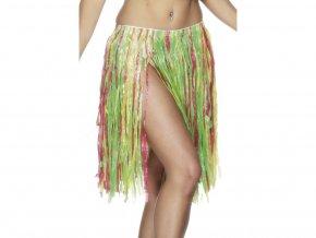 havajská hula hula sukně barevná krátká