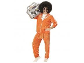 Pánský kostým 80's Disco oranžový