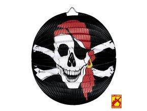 Lampion černý - Pirát