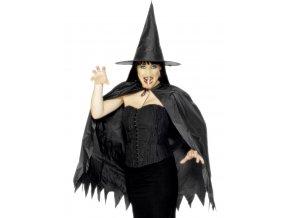 Čarodějnická sada - plášť, klobouk a nos