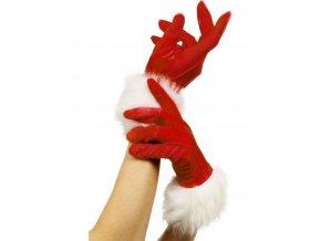 Dámské vánoční rukavice krátké
