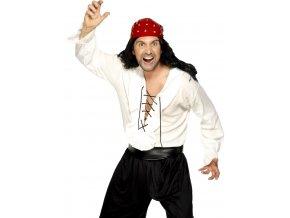 Pirátská košile bílá