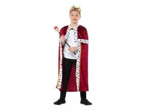 Dětská sada Král (plášť, koruna, žezlo)