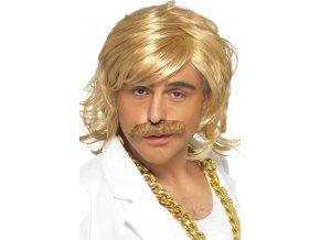 Pánská blond retro paruka 70. léta