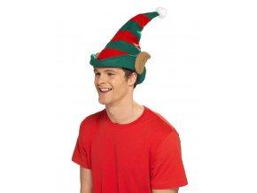Vánoční čepice Elf s ušima