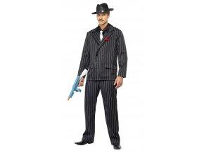 Pánský kostým Mafián pruhovaný