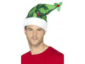 Vánoční čepice zelená