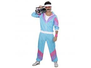 Disco šusťáková souprava 80's modrá