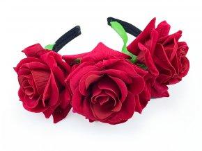 Čelenka Sugar Skull rudé růže
