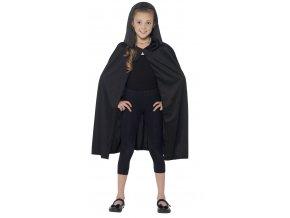Dětský plášť s kapucí černý