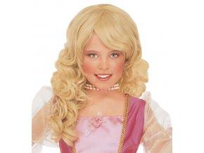 Dětská blonďatá paruka Princezna