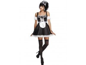 Dámský kostým pokojská (černo-bílý)