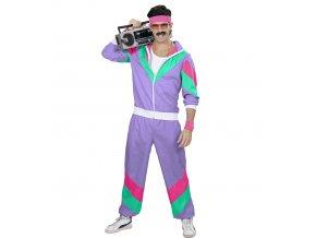 Disco šusťáková souprava 80's fialová