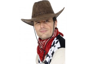 Kovbojský klobouk - hnědý