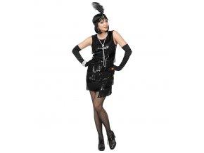 Dámské flitrové šaty černé