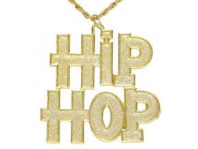 Zlatý řetízek s přívěskem Hip-Hop