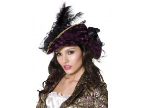 Pirátský klobouk s peřím