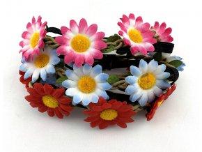 Květinová čelenka Kopretina (3ks)