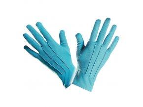 Modré rukavice