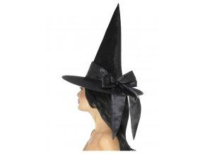Čarodějnický klobouk s černou mašlí