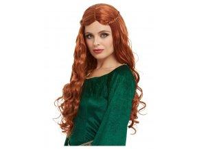 8510 damska paruka stredoveka princezna