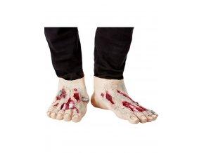 Latexové zombie nohy