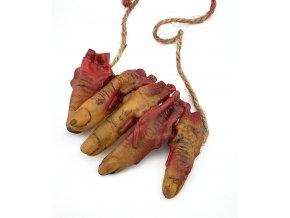 Náhrdelník utržené prsty