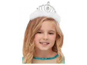 Princeznovská korunka s bílou marabou