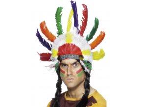 Indiánská čelenka Náčelník - barevná