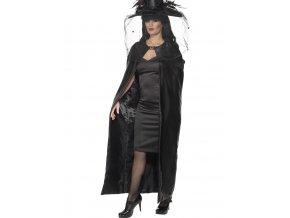 Čarodějnický plášť černý deluxe