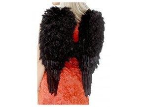 Andělská křídla černá 50x60cm