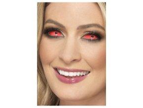 Červené kontaktní čočky