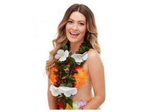 Havajský věnec s bílými květy