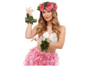 Havajská sada s růžovými květy