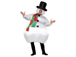 Nafukovací kostým Sněhulák