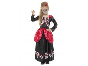 Dětské šaty Sugar skull Deluxe