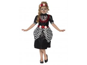 Dětské šaty pro Sugar skull