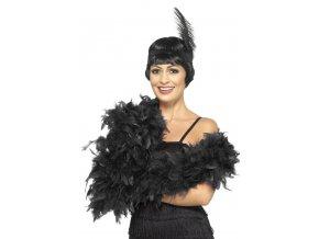 Luxusní boa černé, délka 180cm, 80g