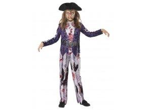 Dětský kostým zombie pirátka