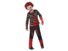 Dětský kostým zombie Klaun Deluxe