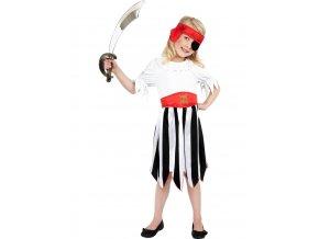 Dětský kostým Pirátka s červeným šátkem