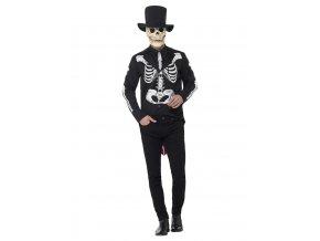 Pánský kostým Kostlivce Deluxe