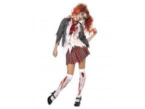 Dámský kostým zombie Školačka
