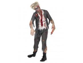 Pánský kostým zombie Vysokoškolák
