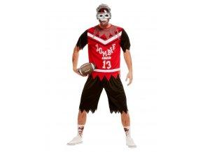 Pánský deluxe kostým zombie Fotbalista