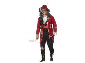 Pánský kostým zombie Pirát Deluxe