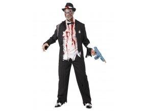 Pánský kostým zombie Gangster