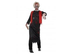 Pánský kostým zombie Kněze