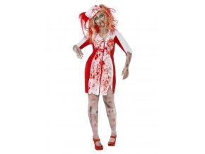 Dámský kostým Zombie sestřička (plus size)